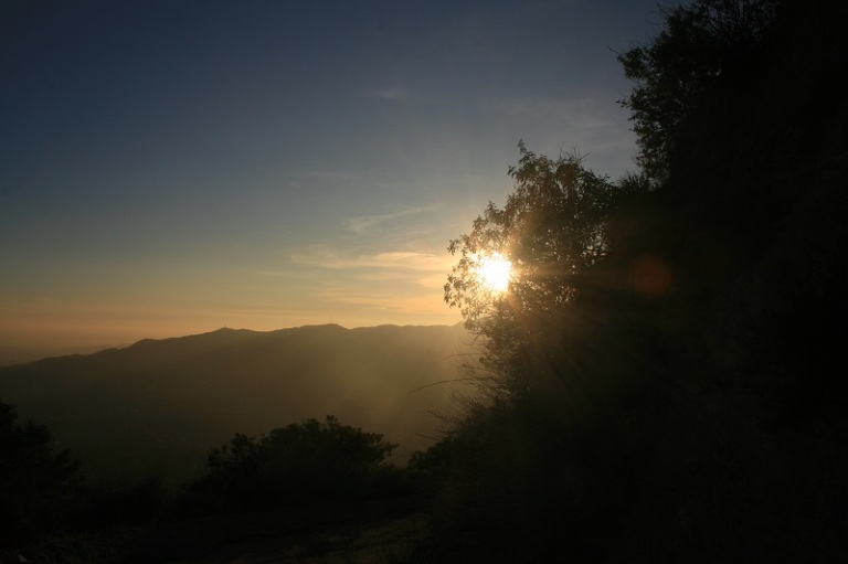 Sunset on the Earl Canyon Motorway, San Gabriel foothills, CA