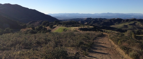 Panoramic view from the trails of East Walker Ranch, Santa Clarita Valley, CA