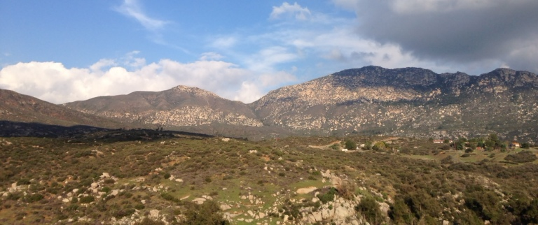 View of Rodriguez Mountain in the Hellhole Canyon Open Space Preserve, Valley Center, CA