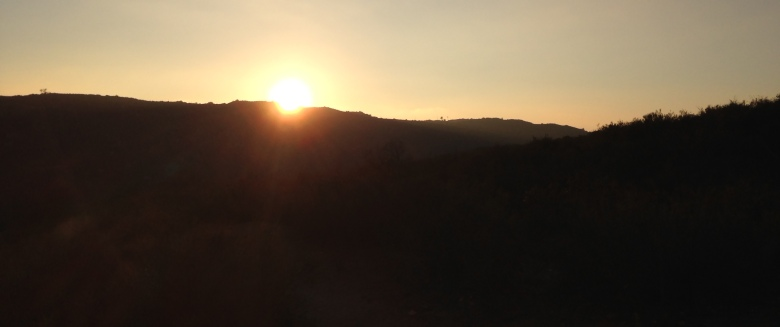 Sunset, Hellhole Canyon Open Space Preserve, Valley Center, CA