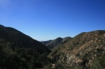 Aerial perspective of Colby Canyon, Angeles National Forest, California