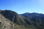 Mt. Wilson and San Gabriel Peak as seen from Josephine Saddle, Angeles National Forest, California