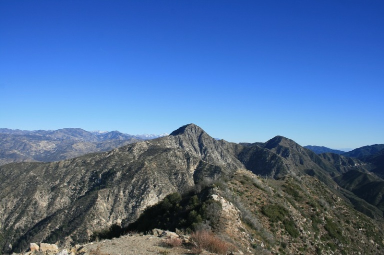 Looking east from Josephine Peak, Angeles National Forest, California