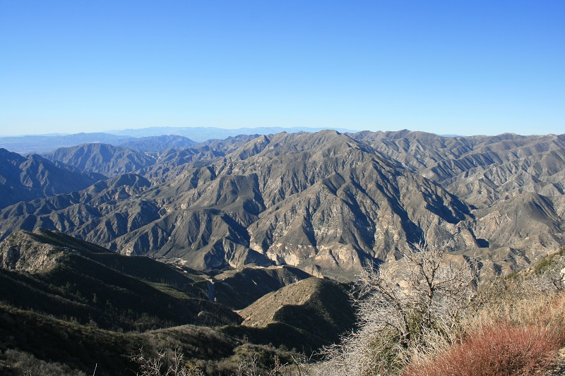 View of Big Tujunga Canyon from just below Josephine Peak, Angeles National Forest, California