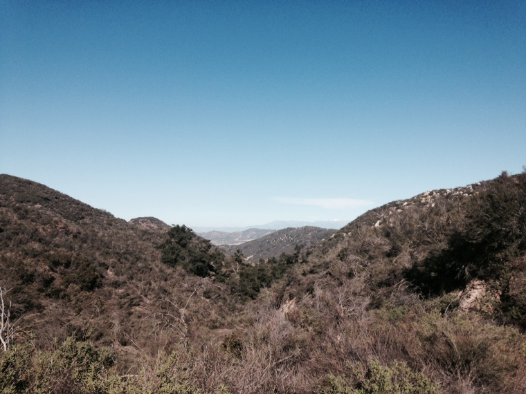 View from the top of Slaughterhouse Canyon, Murrieta, CA