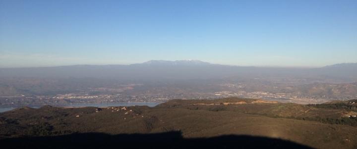 View from San Mateo Peak, Santa Ana Mountains, Riverside County, California