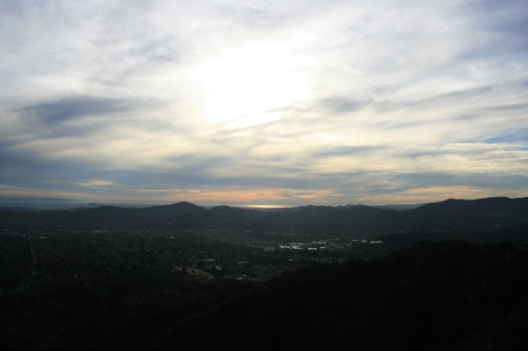 Ocean view from the Altadena Crest Trail, San Gabriel Valley, CA