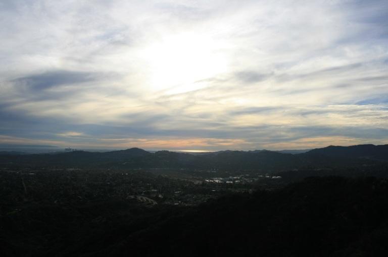 Ocean view from the Altadena Crest Trail, San Gabriel Valley, CA
