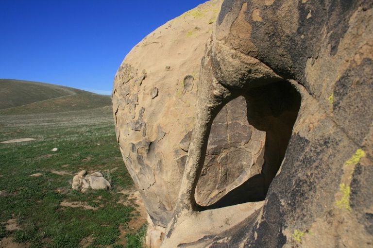 Sandstone geology at the Wind Wolves Preserve, San Joaquin Valley, California