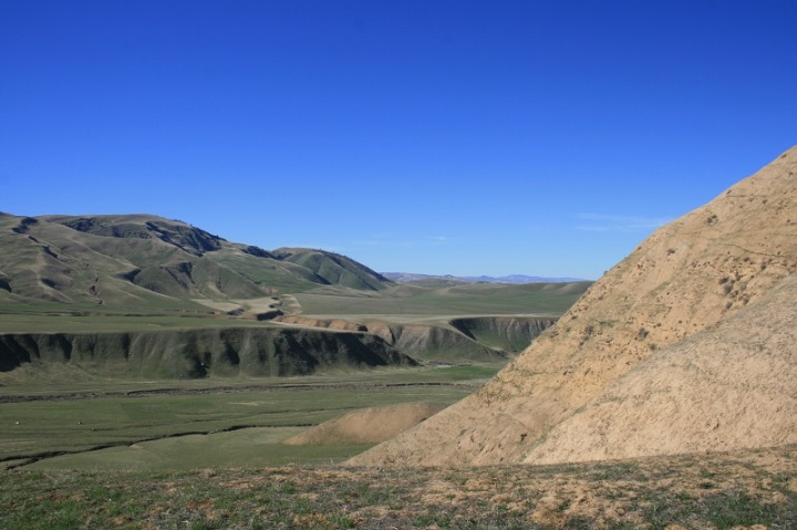 Panoramic view of the Wind Wolves Preserve, San Joaquin Valley, California