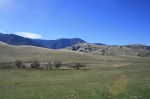 Panoramic views of hills and mountains, Wind Wolves Preserve, San Joaquin Valley, CA