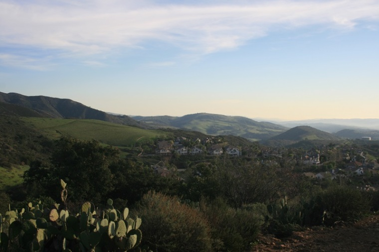 Southeast panorama from the Bell View Trail, Santa Ana foothills, Orange County, CA