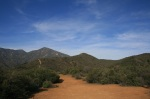 View of Santiago Peak and Bell Peak, Cleveland National Forest, Orange County, CA