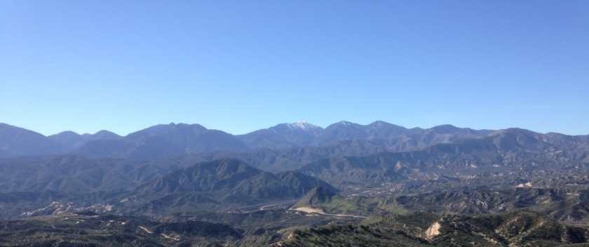 Panoramic view of the San Gabriel Mountains from the Pacific Crest Trail, San Bernardino County, CA
