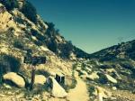 Pacific Crest Trail heading east from Cajon Pass, San Bernardino County, CA