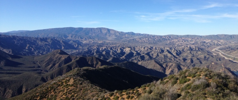 Looking northwest from Slide Mountain, Angeles National Forest, California