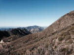 Western view of the San Gabriel Mountains from the Strawberry Peak Trail, Angeles National Forest, CA