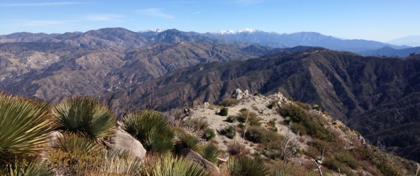 Looking east from the summit of Strawberry Peak, San Gabriel Mountains, Angeles National Forest, CA
