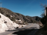 Strawberry Peak Trail Head on the Angeles Crest Highway, San Gabriel Mountains, CA