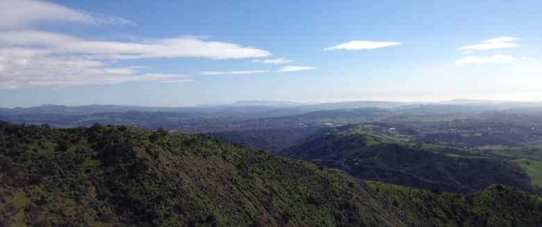 View of southeastern Orange County from the Santiago Truck Trail, Cleveland National Forest, CA