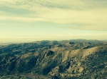Panoramic view of the Santa Ana foothills from the Santiago Truck Trail, Orange County, CA