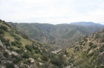 Panoramic view of Deep Creek, San Bernardino National Forest, CA