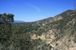 Mt. Wilson Toll Road as seen from the Horse Trail, Eaton Canyon, Pasadena, CA