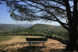 Bench at an overlook, Irvine Regional Park, Orange County, CA