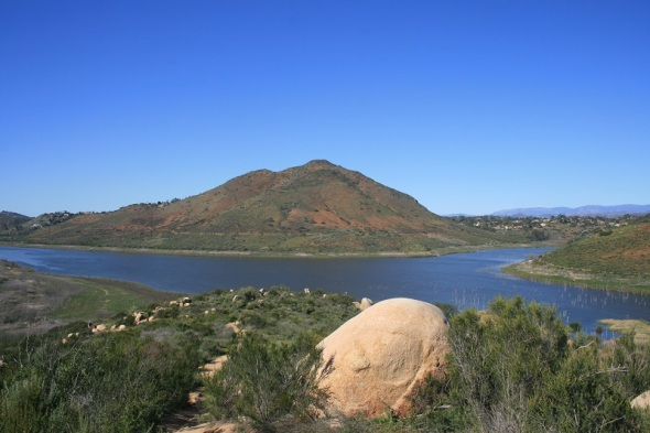 Bernardo Mountain and Lake Hodges from the Piedras Pintadas Trail, Rancho Bernardo, San Diego, CA