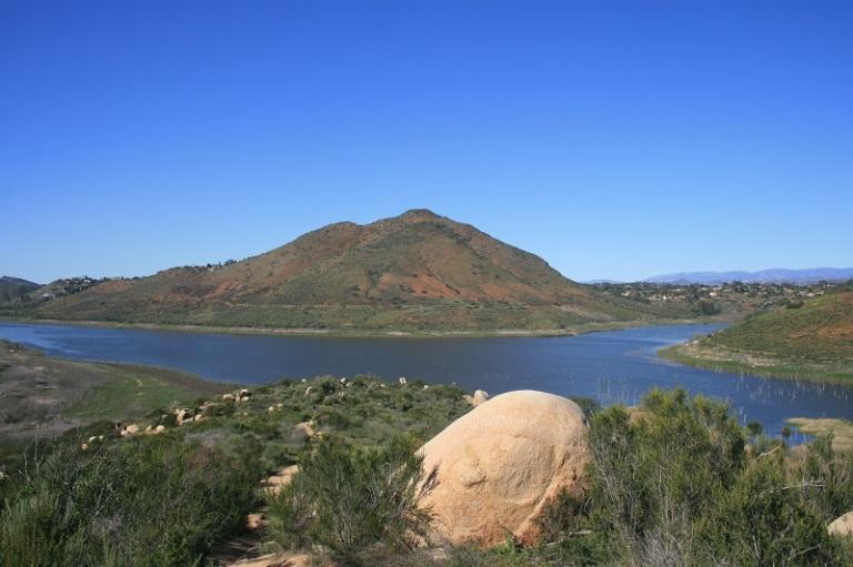Bernardo Mountain and Lake Hodges from the Piedras Pintadas Trail, Rancho Bernardo, San Diego, CA