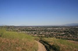 Vista point above San Dimas Canyon, CA