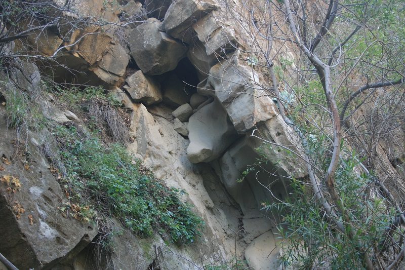 Geological formations in Devil Canyon, Chatsworth, CA