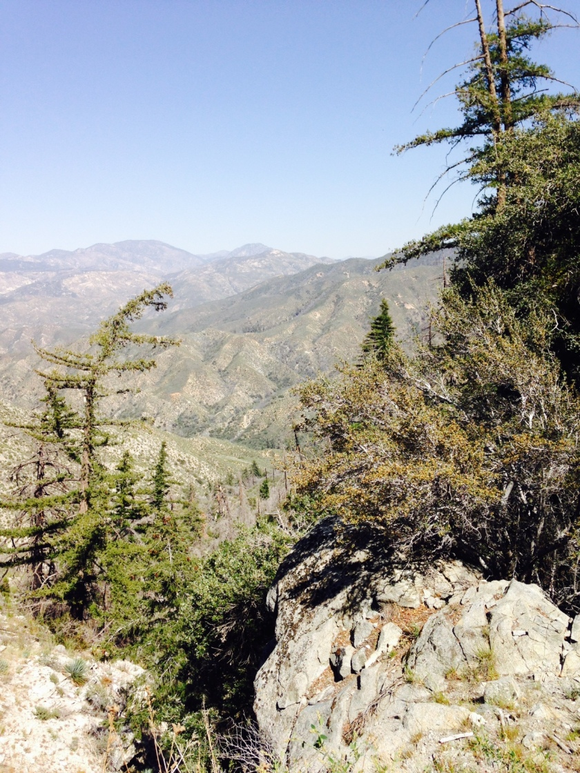 Looking east from Strawberry Peak, Angeles National Forest, CA