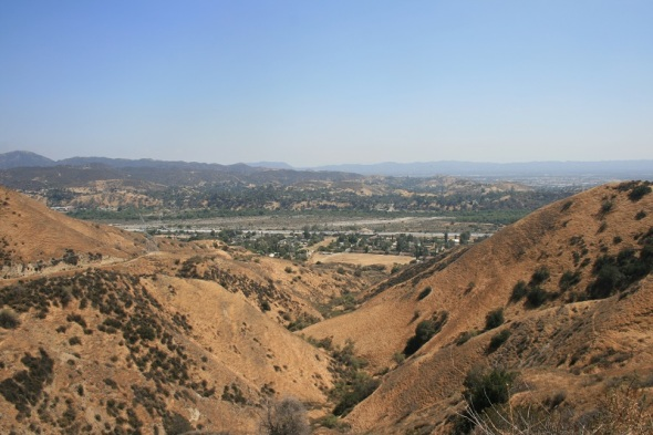 View of the San Fernando Valley from the Doc Larsen Loop Trail, Lakeview Terrace, CA