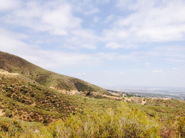 Foothills above Rancho Cucamonga, CA