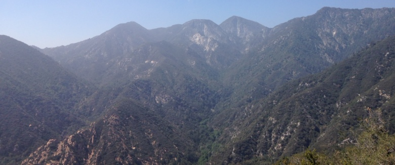 Mt. Lowe and San Gabriel Peak from the Mt. Wilson Toll Road