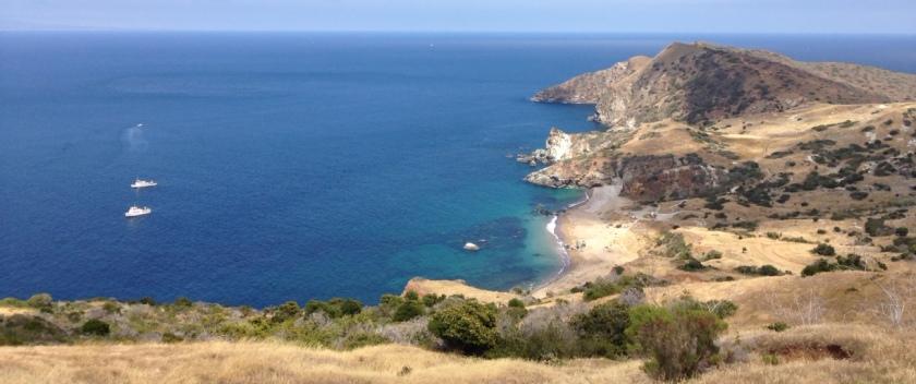 Trans Catalina Trail near Parsons Landing