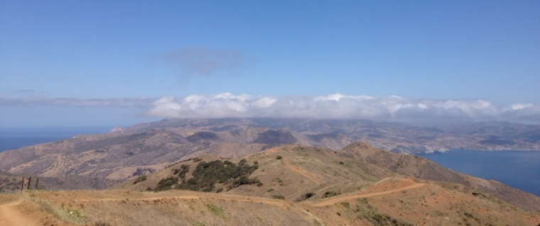 Panorama on the Trans-Catalina Trail