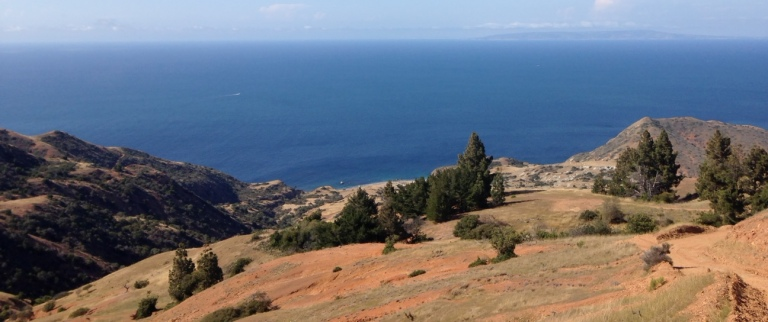 Panoramic view from the Trans-Catalina Trail