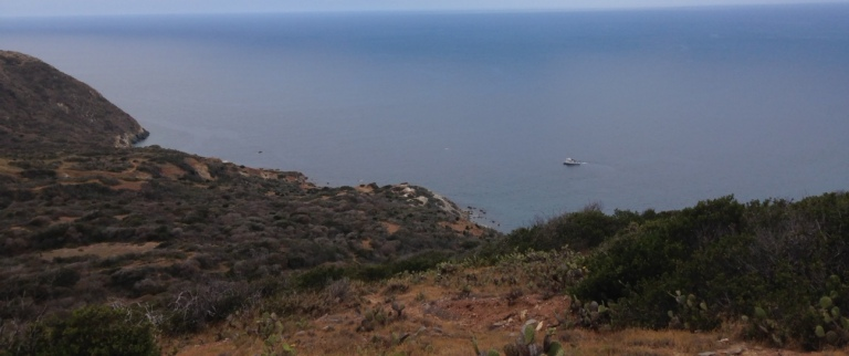 Trans-Catalina Trail above Starlight Beach, Catalina Island