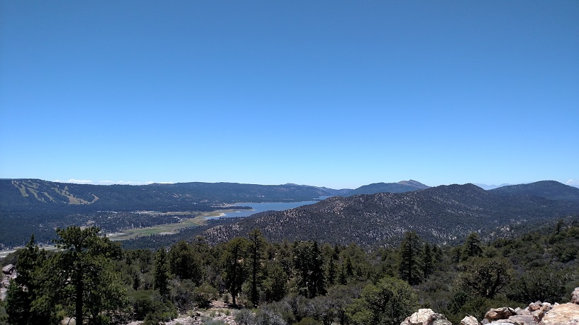 Big Bear Lake as seen from Gold Peak, California