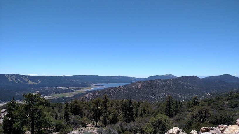 Big Bear Lake as seen from Gold Peak, California