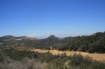 Mitten Mountain as seen from the Zuma Ridge Motorway, Santa Monica Mountains, CA