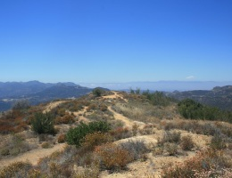 View from above the Zuma Ridge Motorway, Santa Monica Mountains, CA