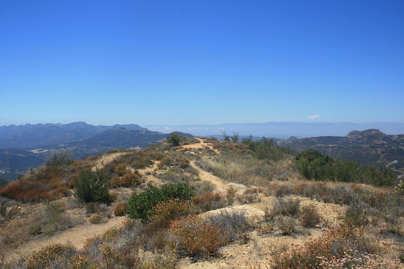 View from above the Zuma Ridge Motorway, Santa Monica Mountains, CA
