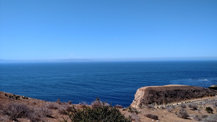 Catalina Island as seen from the Alta Vicente Reserve, Rancho Palos Verdes, CA