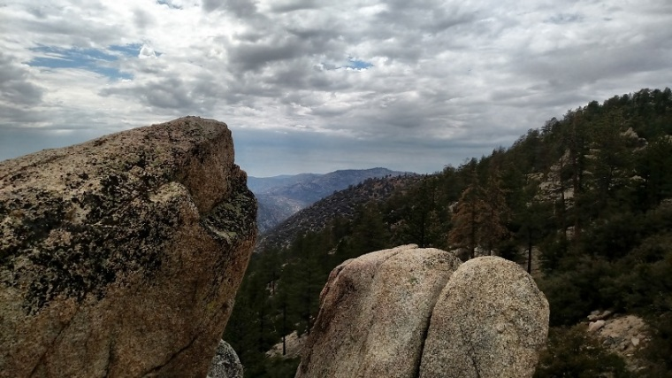 View from the base of Winston Peak, Angeles National Forest, CA
