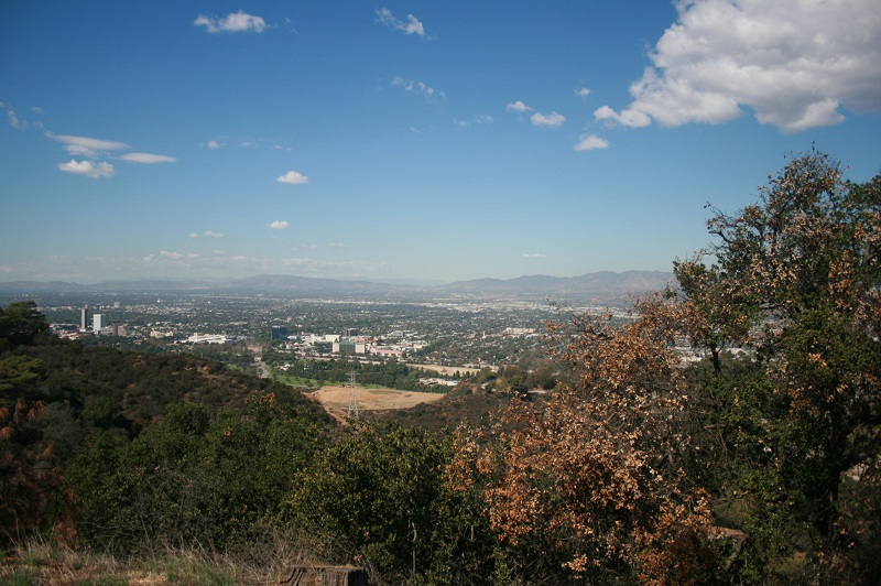 View of the San Fernando Valley from Griffith Park, CA