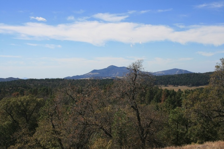 Cuyamaca Mountains as seen from the Laguna Mountains, San Diego County, CA