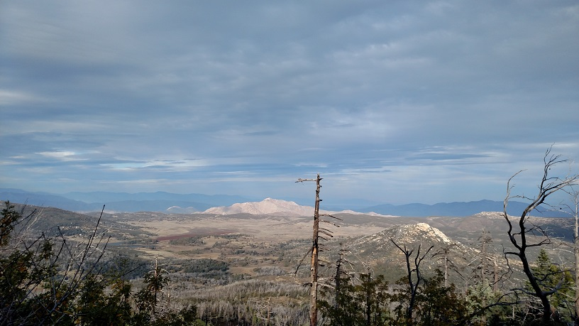 View of Granite and Stonewall from Cuyamaca Peak, San Diego County, CA